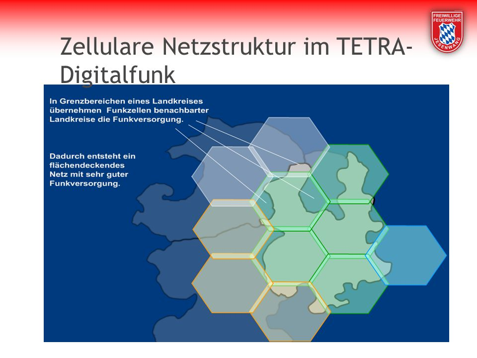 Zellulare Netzstruktur im TETRA-Digitalfunk