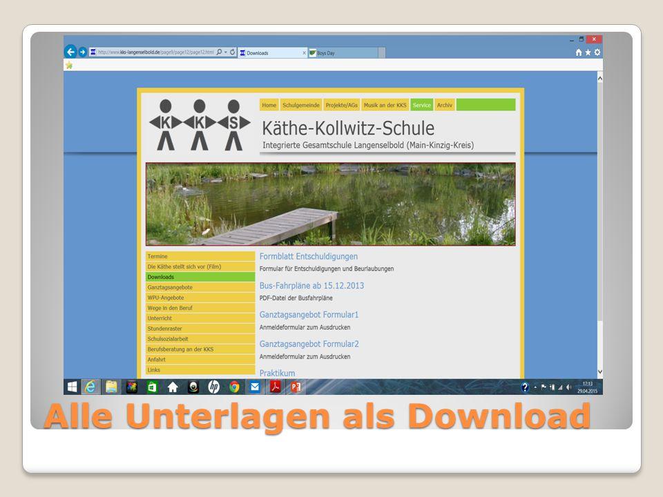 Alle Unterlagen als Download