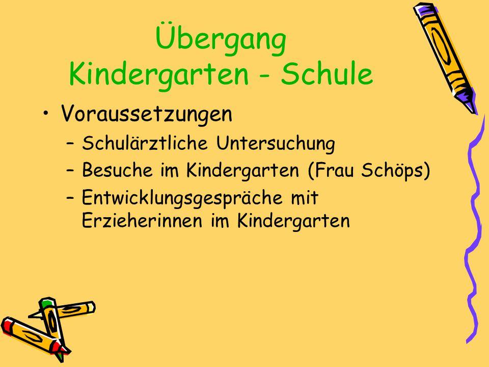 Übergang Kindergarten - Schule