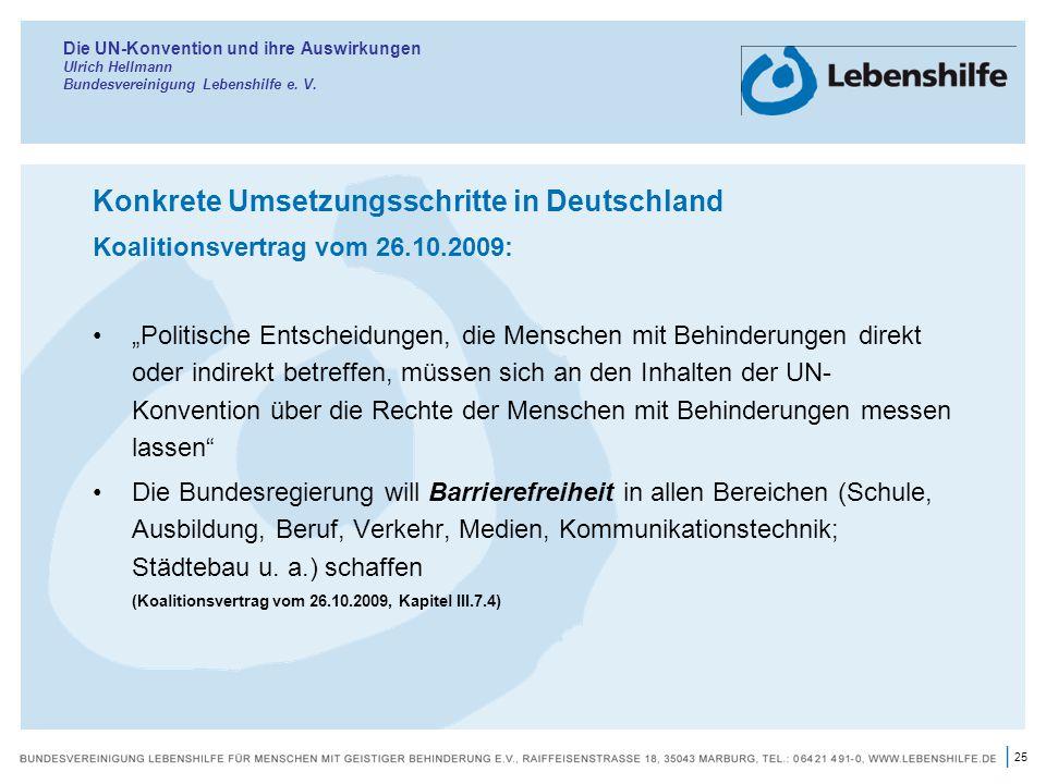 Konkrete Umsetzungsschritte in Deutschland