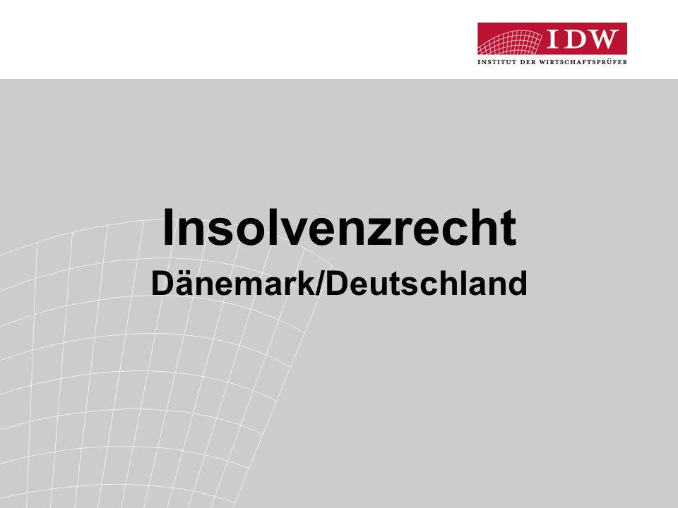 Insolvenzrecht Dänemark/Deutschland