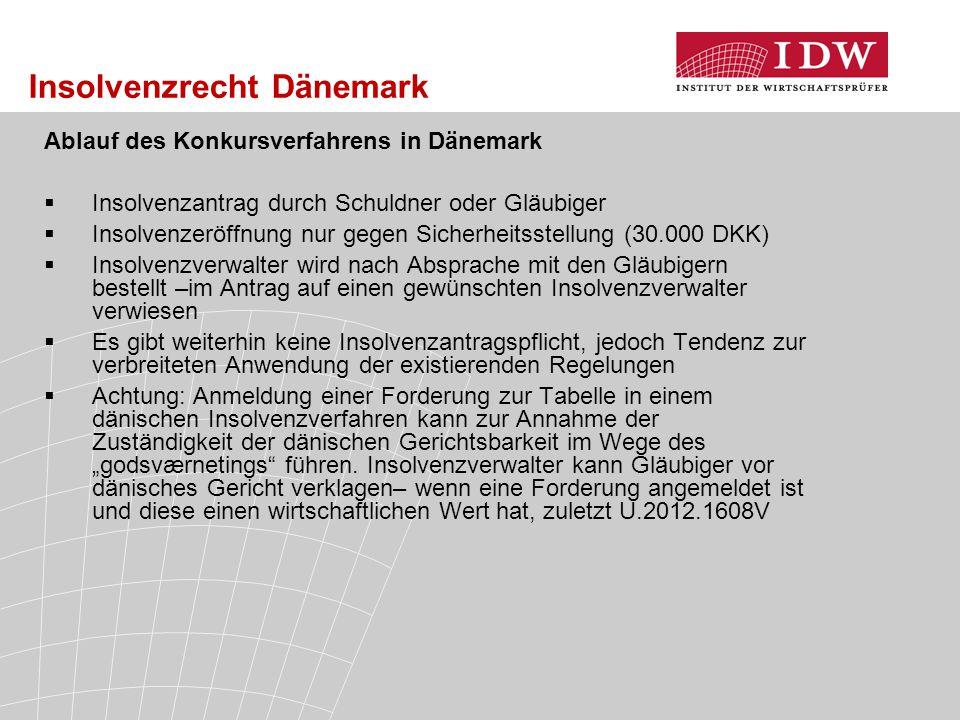 Insolvenzrecht Dänemark