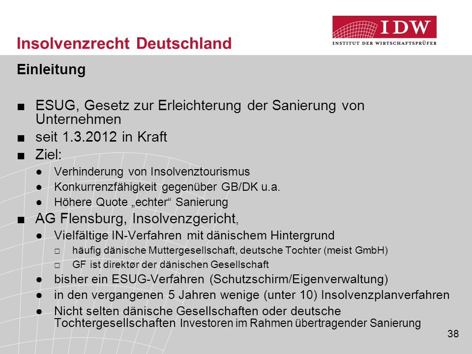 Insolvenzrecht Deutschland