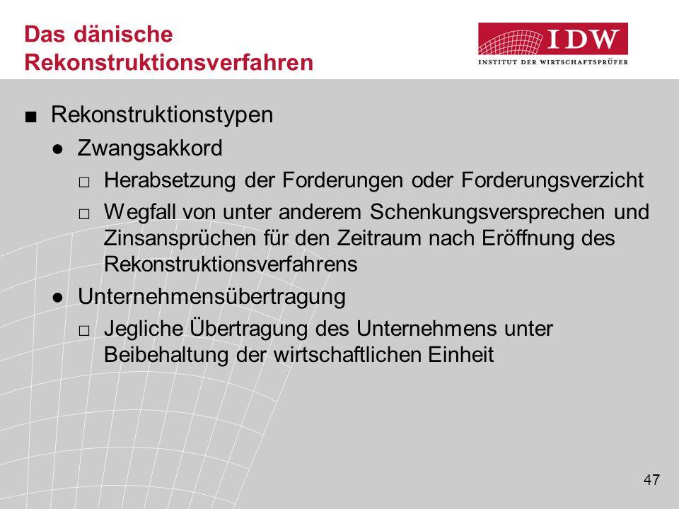 Das dänische Rekonstruktionsverfahren