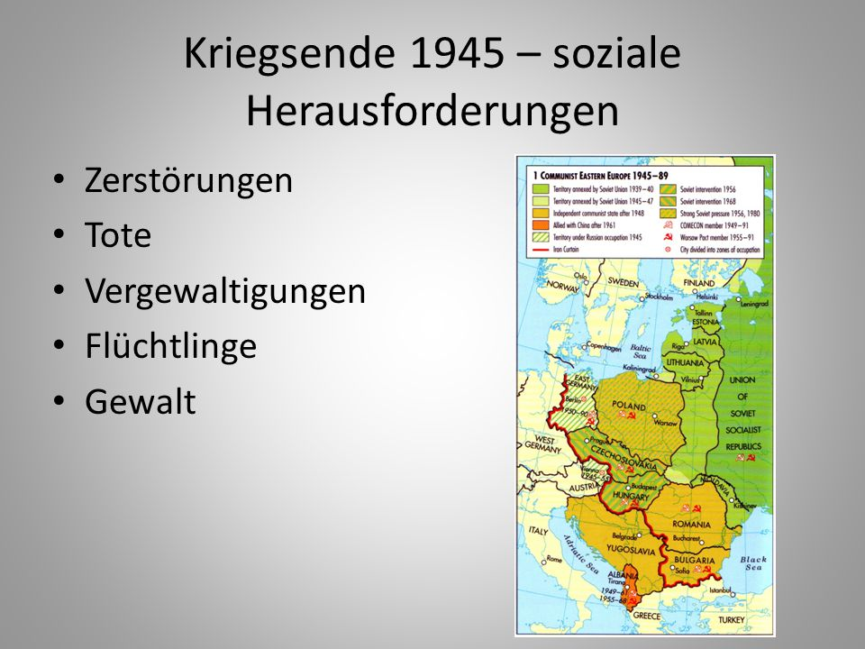 Kriegsende 1945 – soziale Herausforderungen