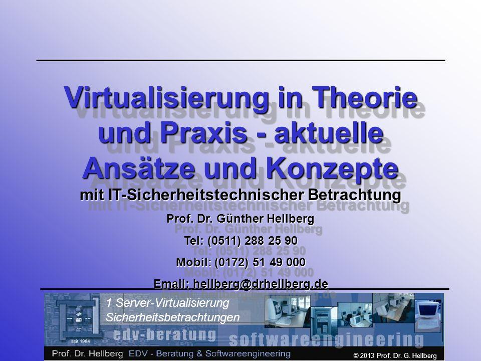 Virtualisierung in Theorie und Praxis - aktuelle Ansätze und Konzepte