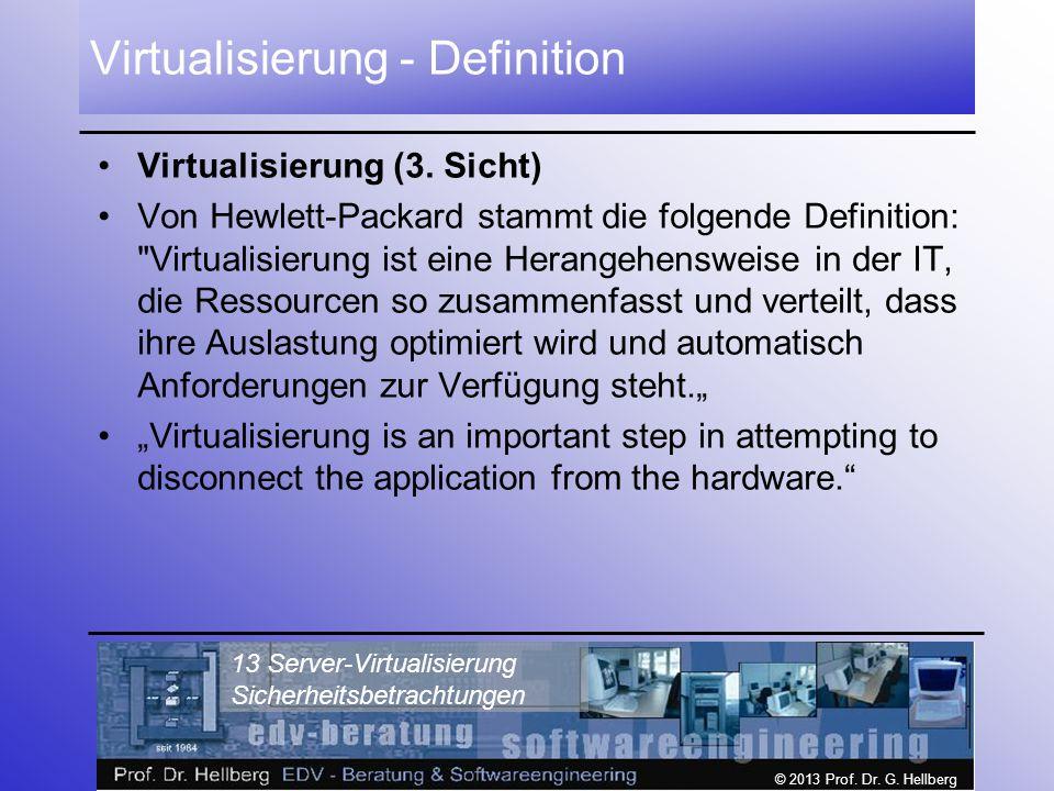Virtualisierung - Definition