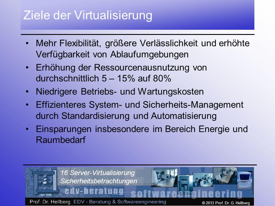 Ziele der Virtualisierung