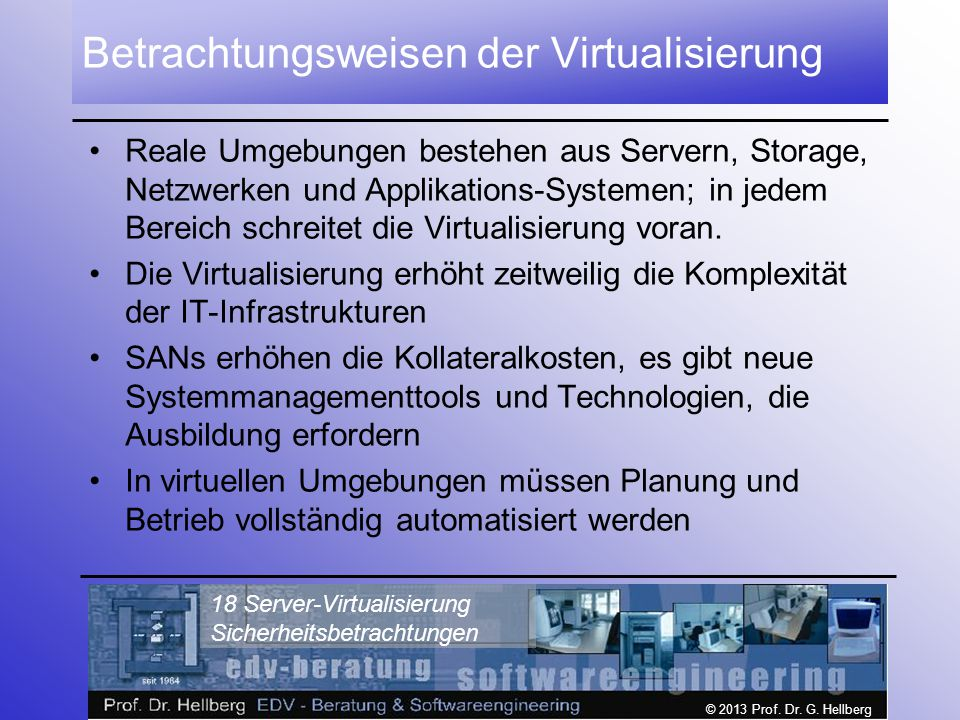 Betrachtungsweisen der Virtualisierung