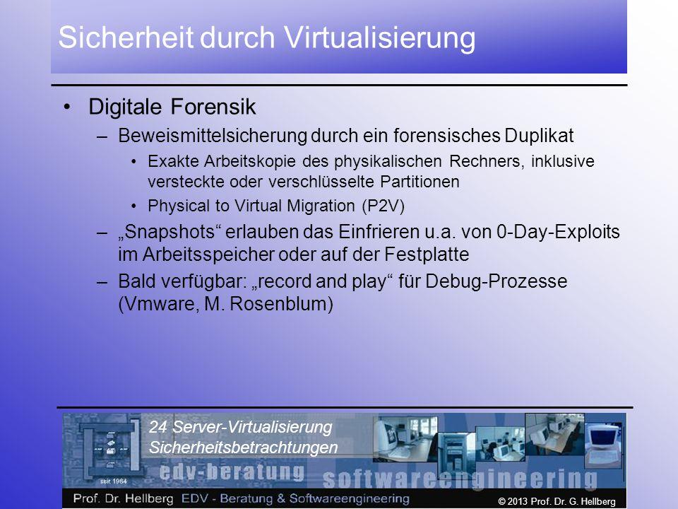 Sicherheit durch Virtualisierung