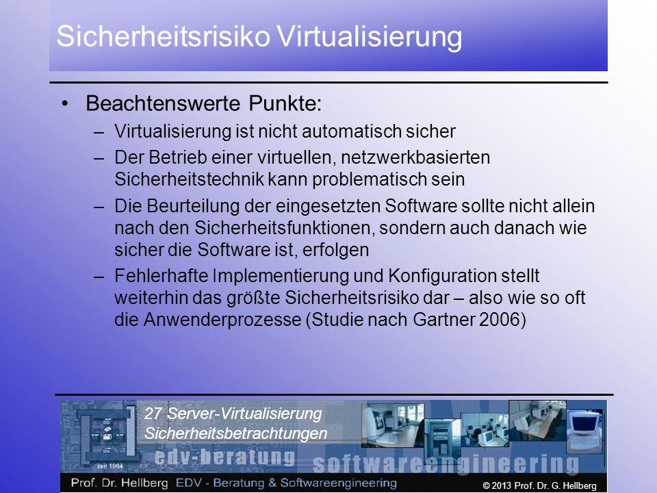 Sicherheitsrisiko Virtualisierung
