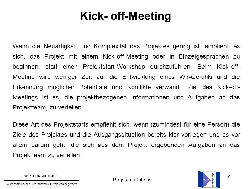 Kick- off-Meeting
