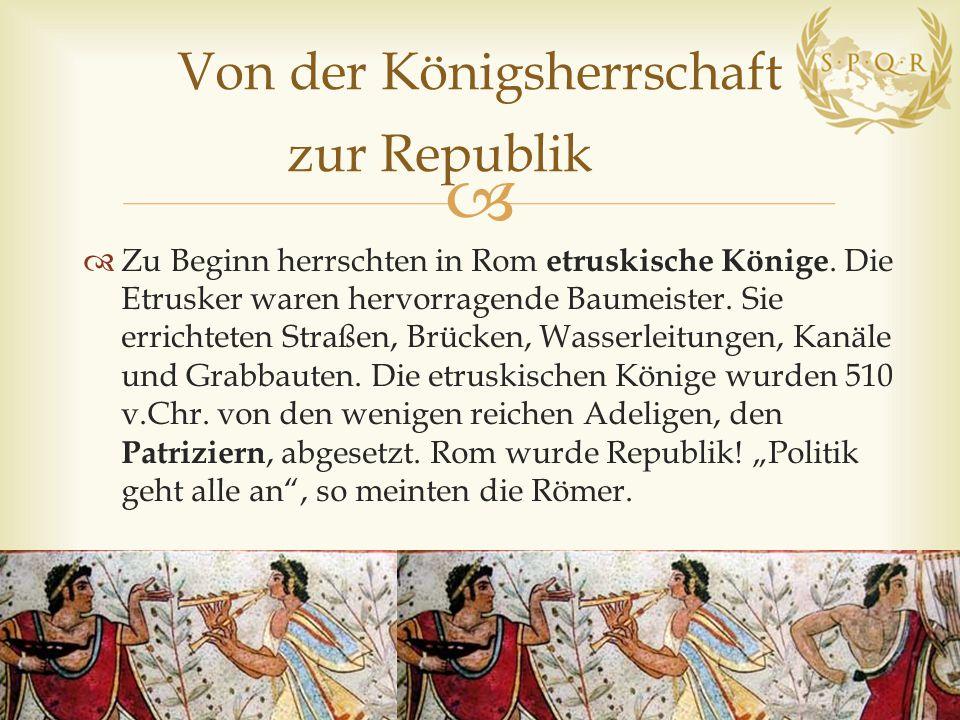 Von der Königsherrschaft zur Republik
