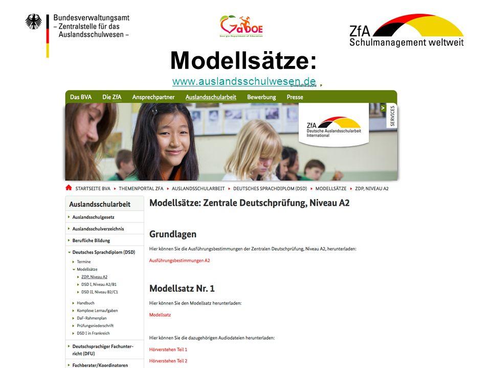 Modellsätze: www.auslandsschulwesen.de