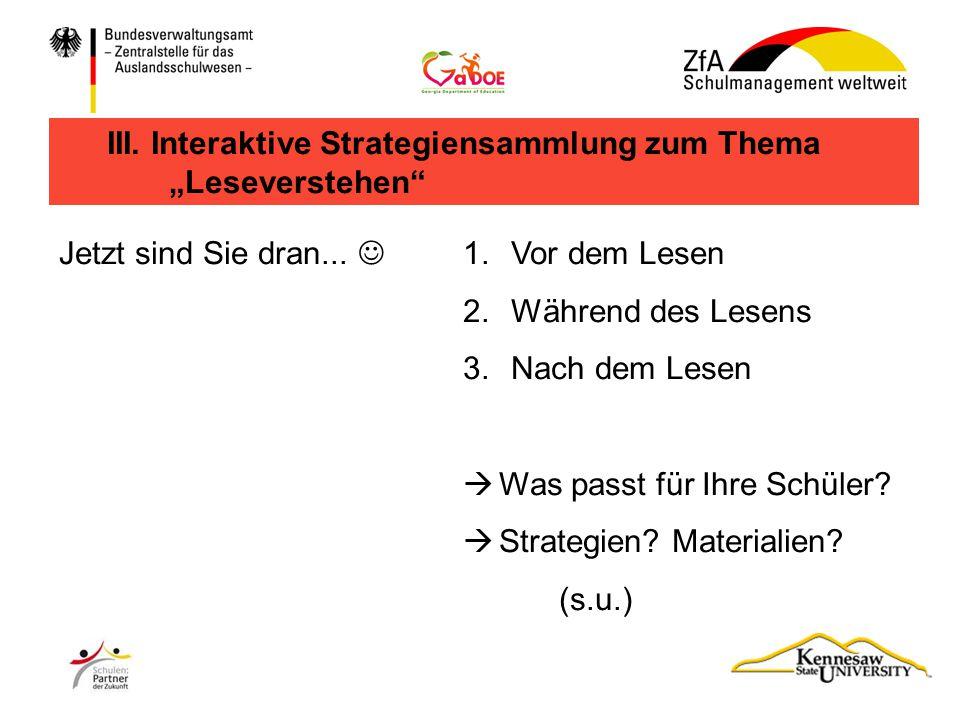 III. Interaktive Strategiensammlung zum Thema