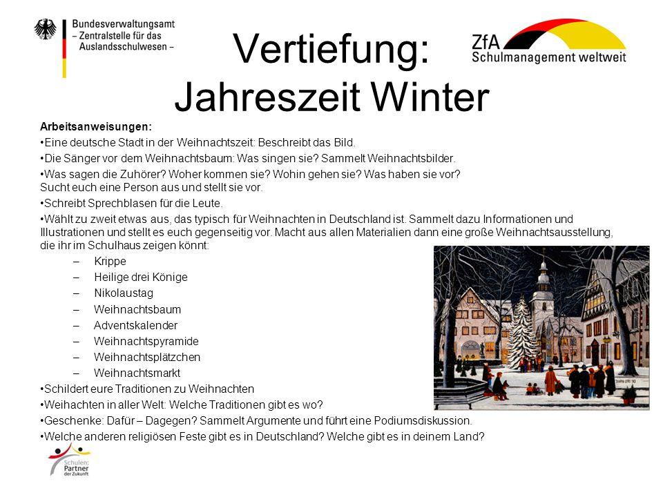 Vertiefung: Jahreszeit Winter