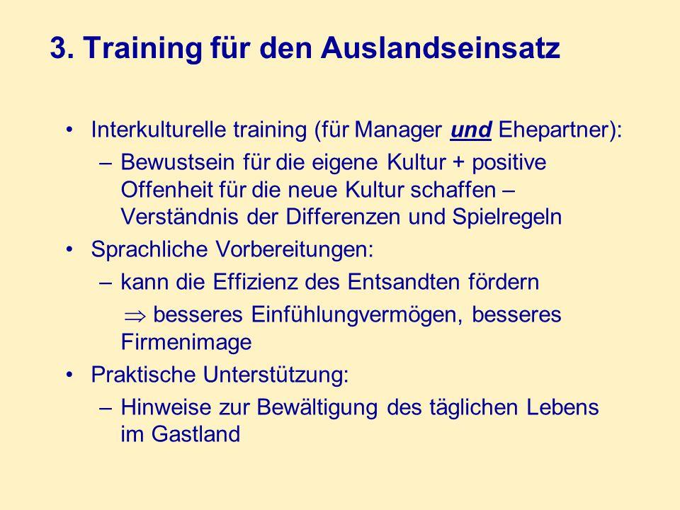 3. Training für den Auslandseinsatz