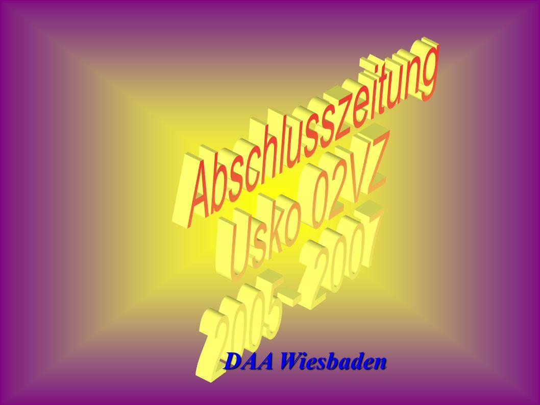 Abschlusszeitung Usko 02VZ 2005 - 2007 DAA Wiesbaden