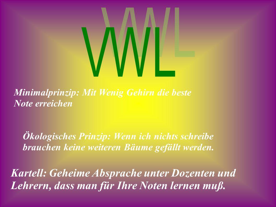 VWL Minimalprinzip: Mit Wenig Gehirn die beste Note erreichen.