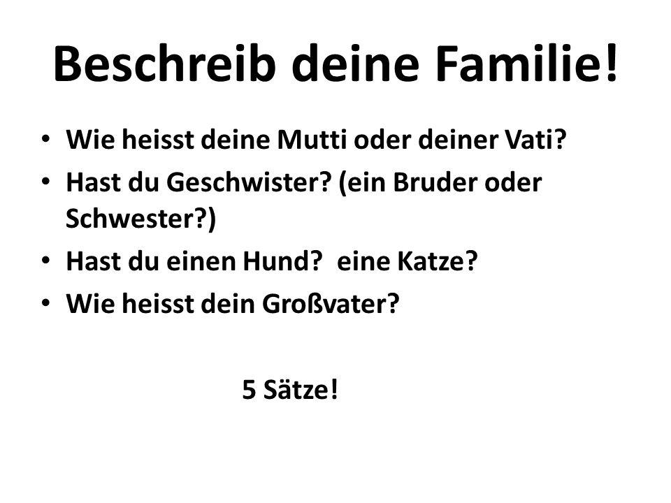 Beschreib deine Familie!