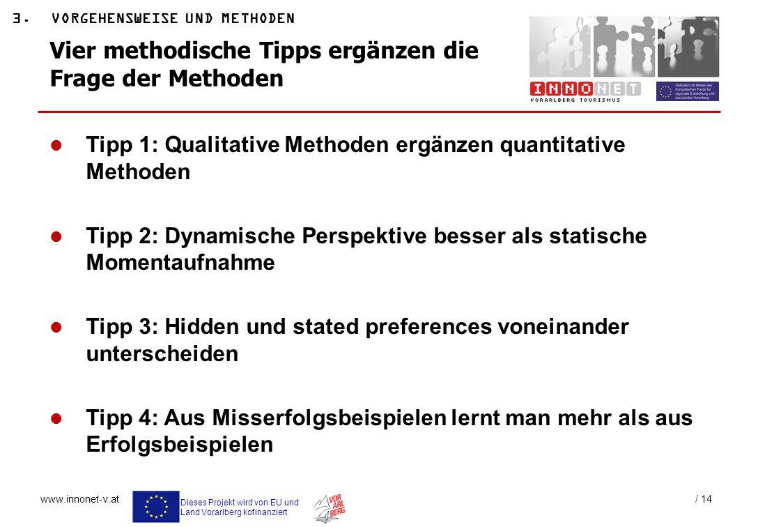 Vier methodische Tipps ergänzen die Frage der Methoden