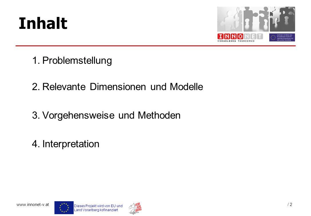 Inhalt 1. Problemstellung 2. Relevante Dimensionen und Modelle