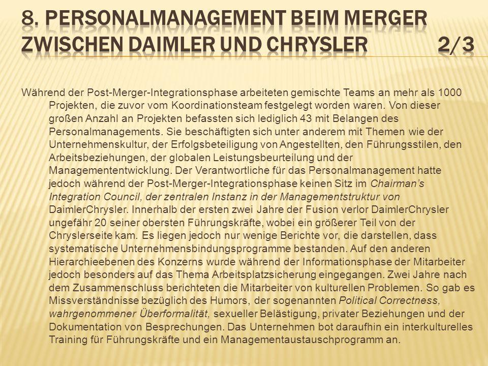 8. Personalmanagement beim Merger zwischen Daimler und Chrysler 2/3