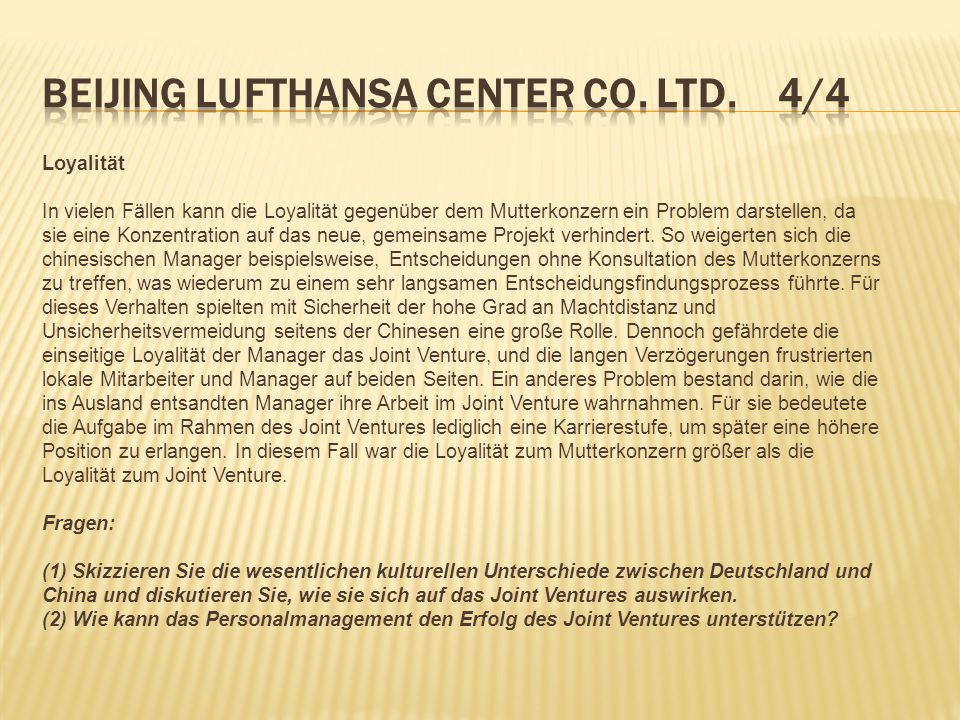 Beijing Lufthansa Center Co. Ltd. 4/4
