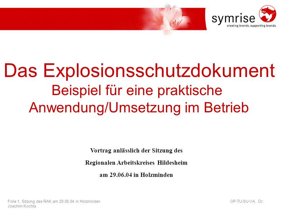 Das Explosionsschutzdokument