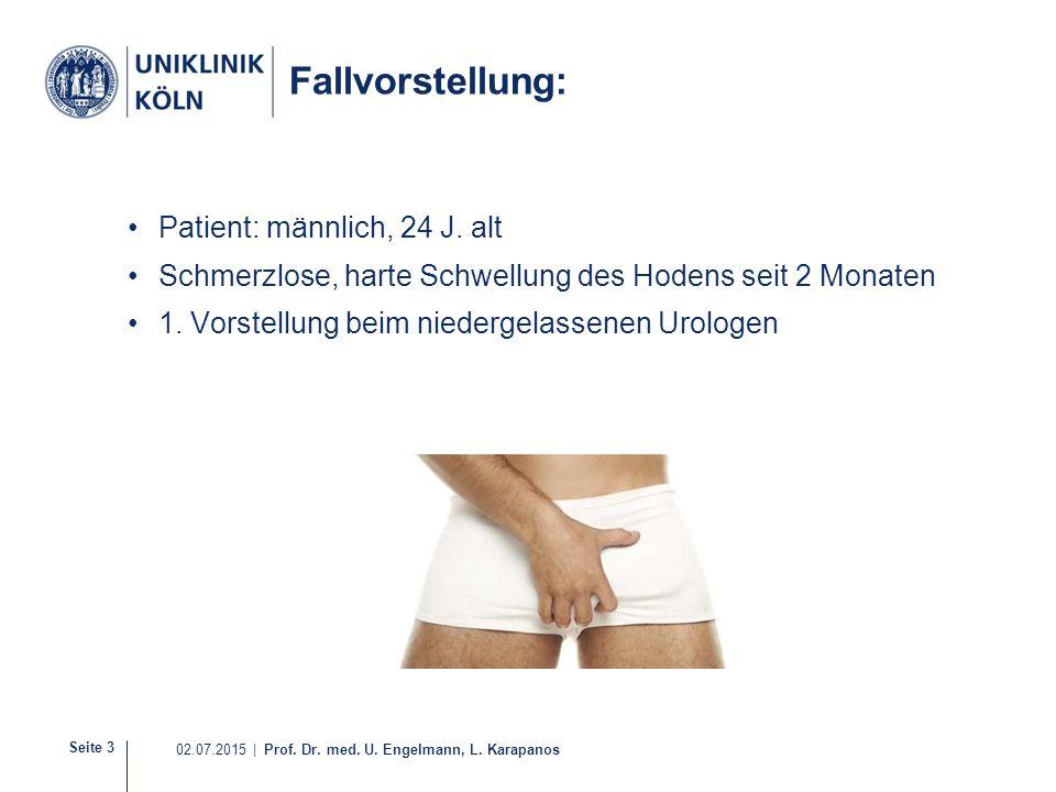 Fallvorstellung: Patient: männlich, 24 J. alt