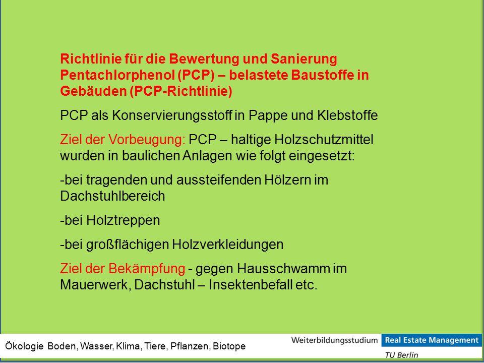 PCP als Konservierungsstoff in Pappe und Klebstoffe