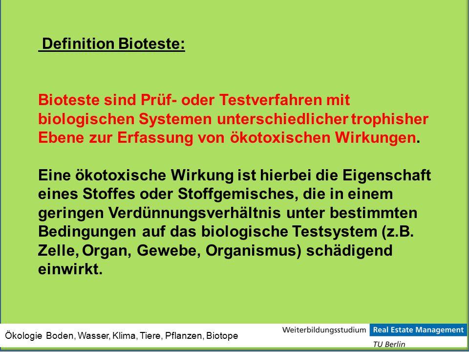Definition Bioteste: