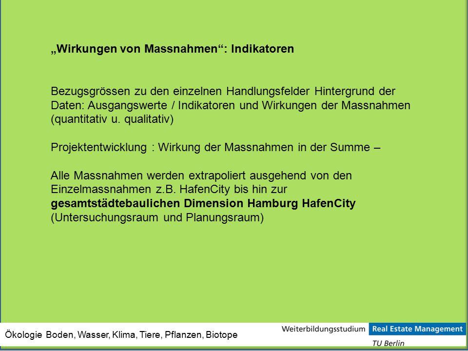 """""""Wirkungen von Massnahmen : Indikatoren"""