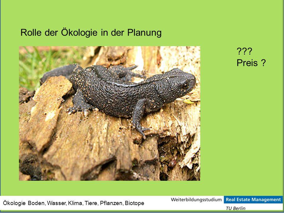 Rolle der Ökologie in der Planung