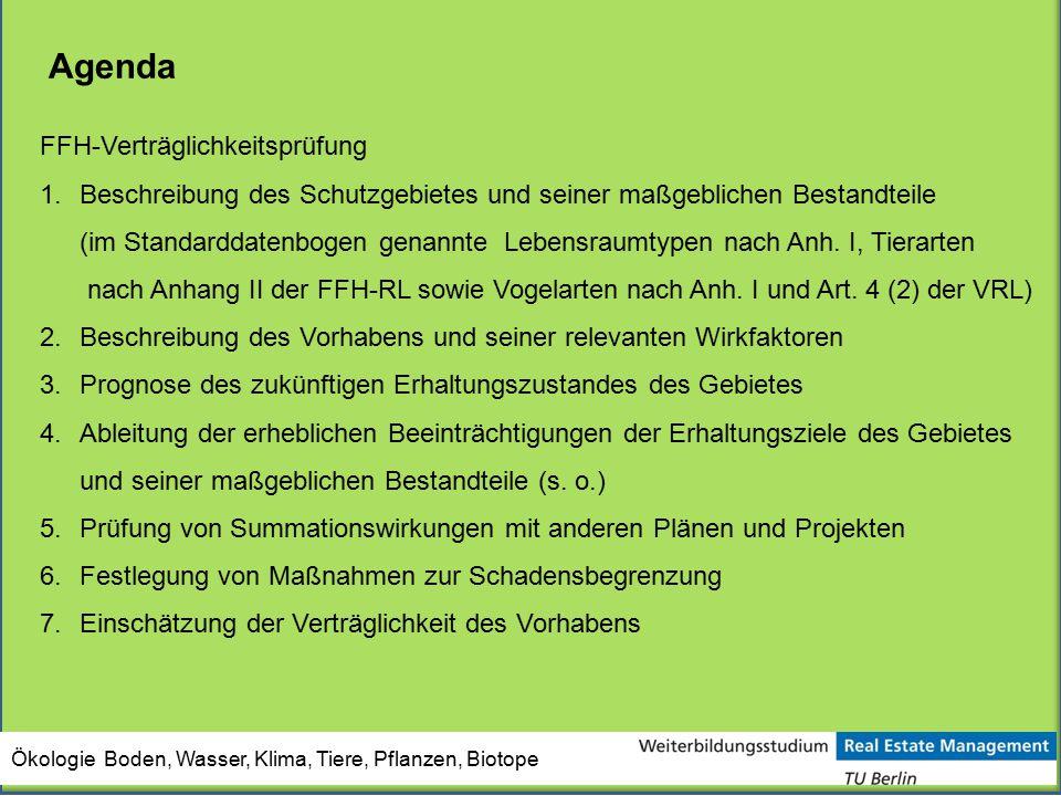 Agenda FFH-Verträglichkeitsprüfung