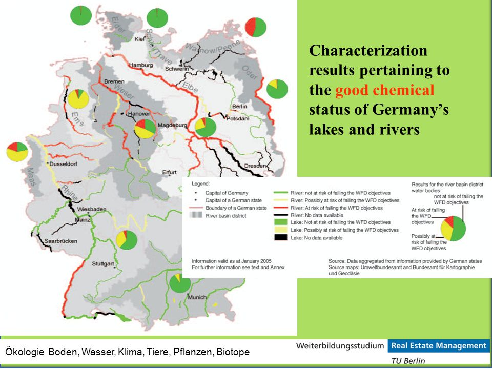 Characterization results pertaining to the good chemical status of Germany's lakes and rivers