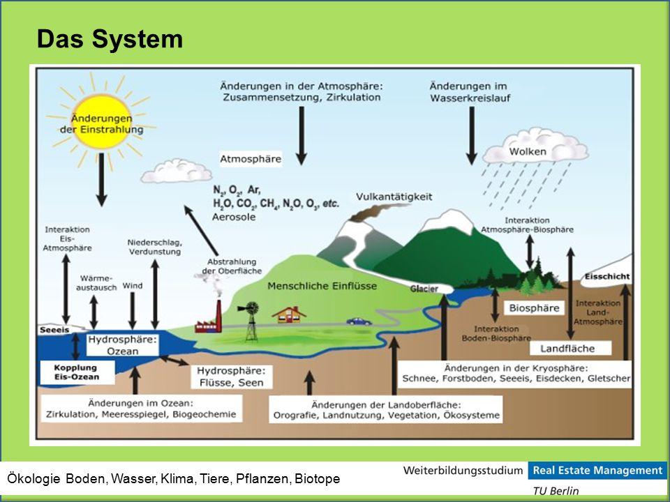 Das System Ökologie Boden, Wasser, Klima, Tiere, Pflanzen, Biotope