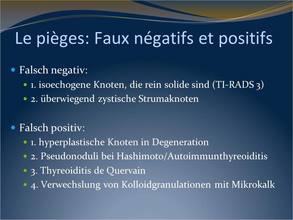 Le pièges: Faux négatifs et positifs