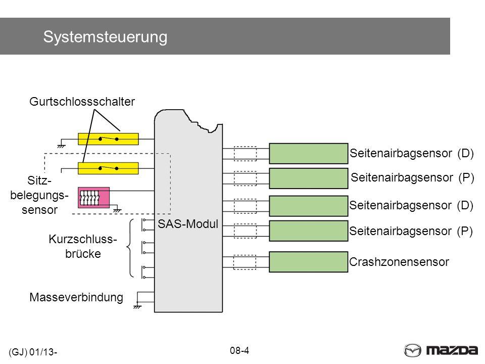 Systemsteuerung Gurtschlossschalter Seitenairbagsensor (D)