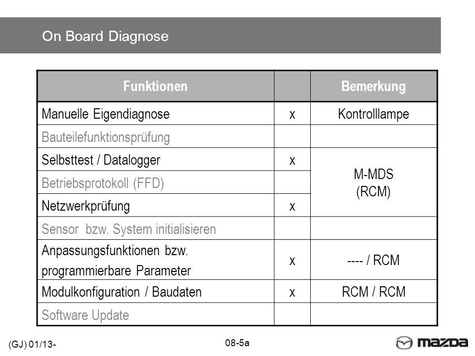 Manuelle Eigendiagnose x Kontrolllampe Bauteilefunktionsprüfung