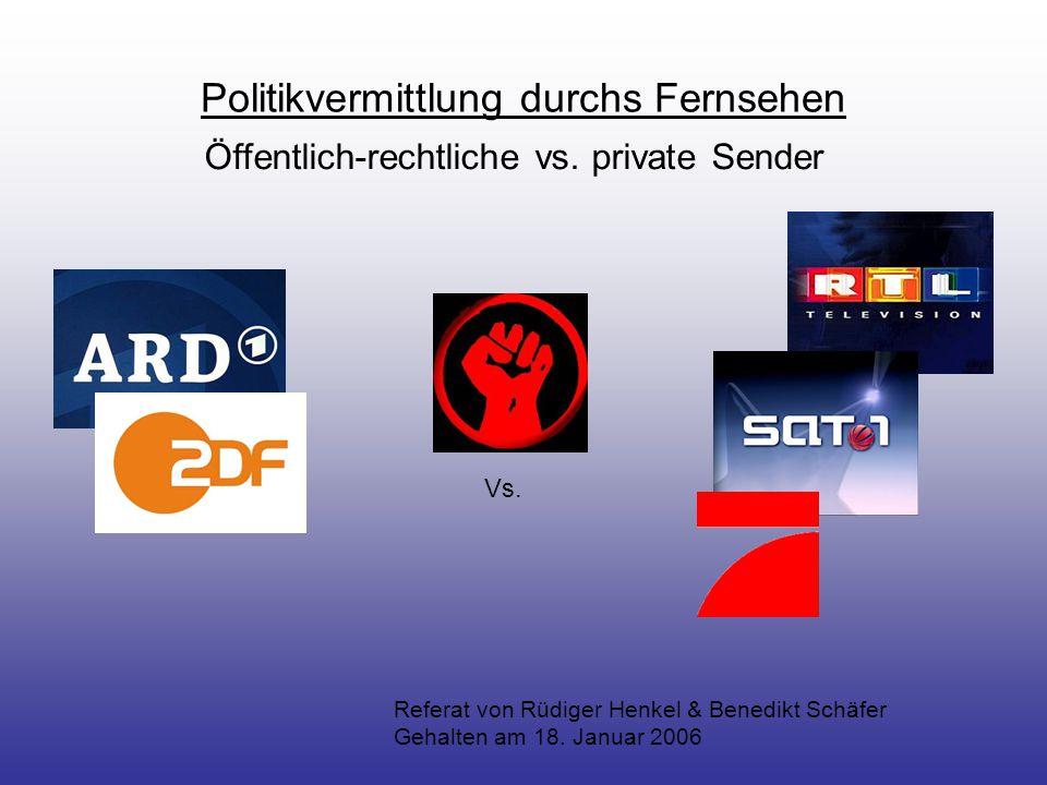 Politikvermittlung durchs Fernsehen