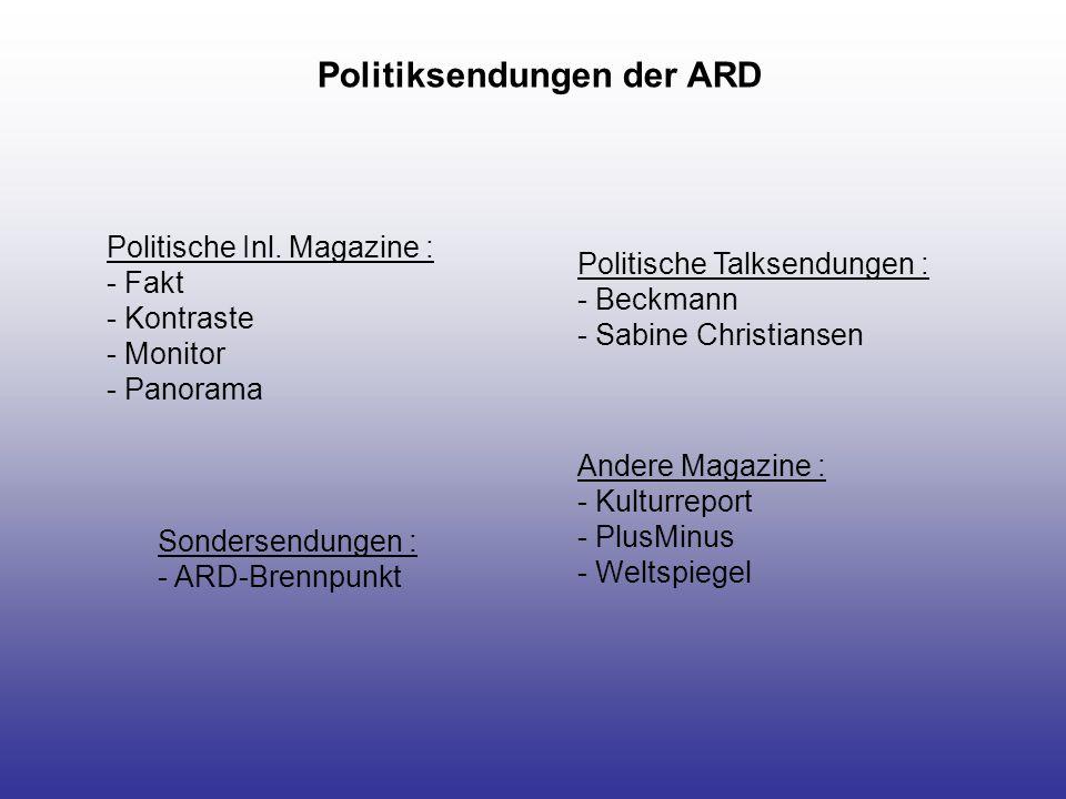 Politiksendungen der ARD