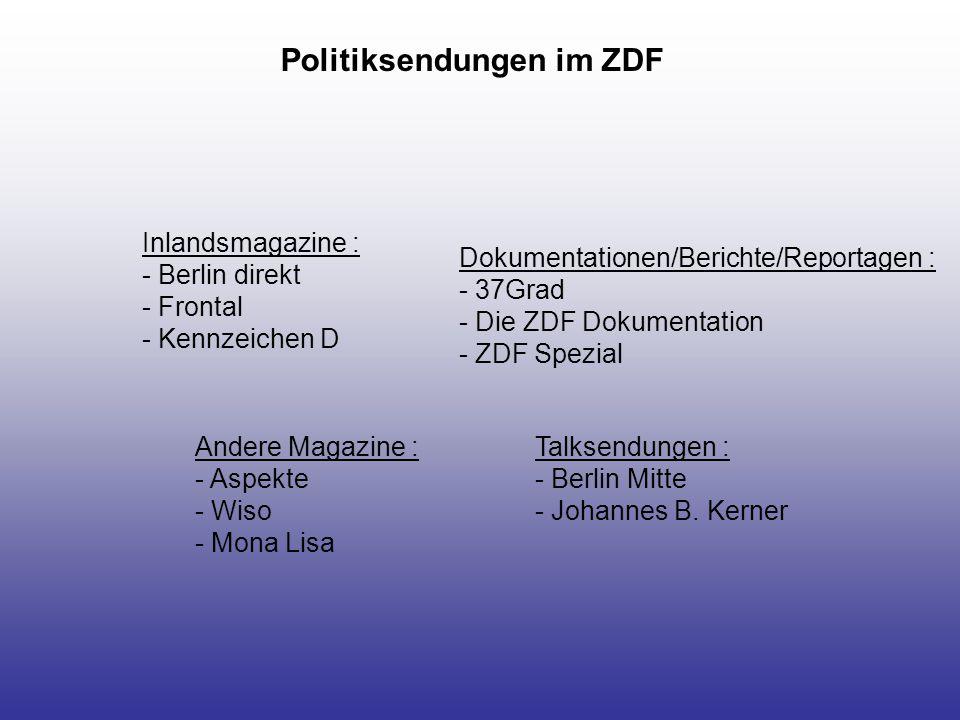Politiksendungen im ZDF