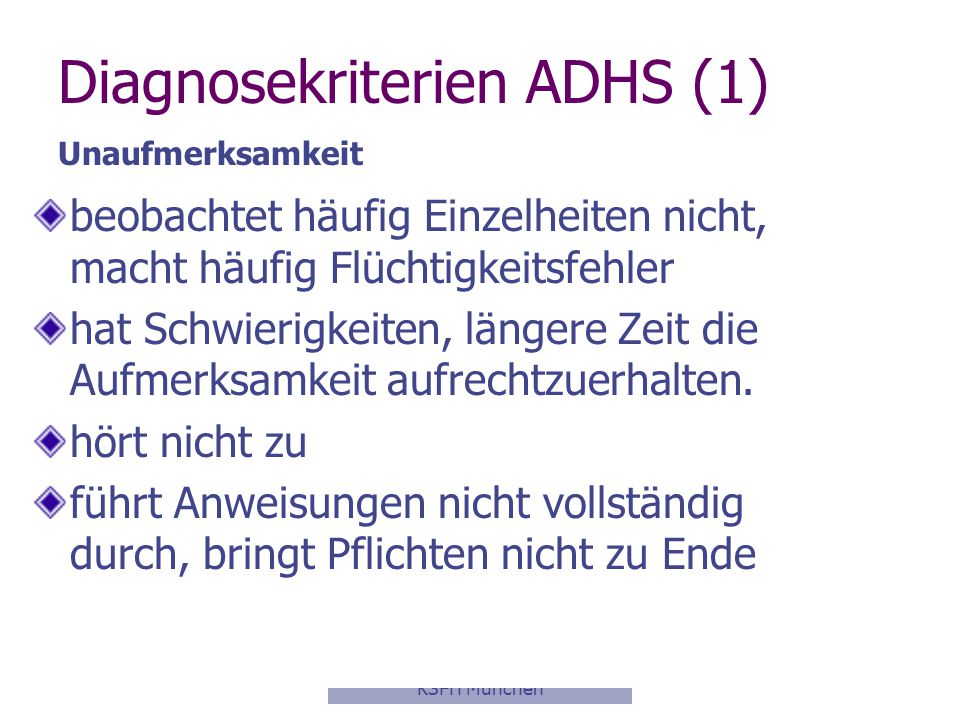 Diagnosekriterien ADHS (1)