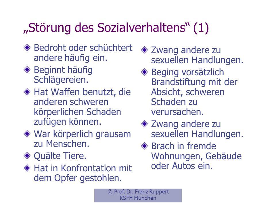 """""""Störung des Sozialverhaltens (1)"""