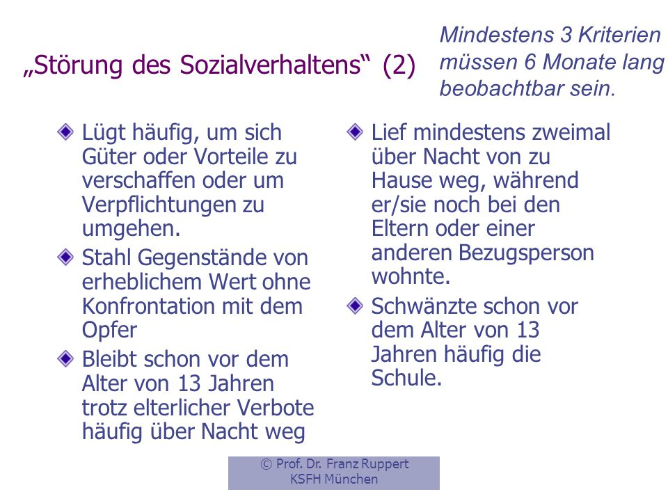"""""""Störung des Sozialverhaltens (2)"""