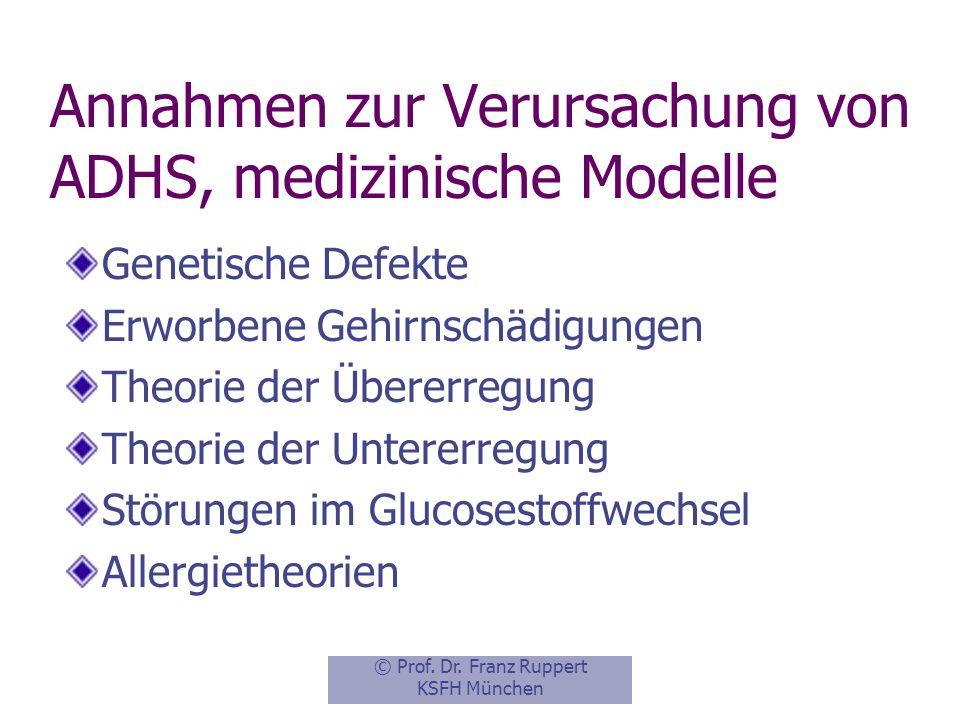 Annahmen zur Verursachung von ADHS, medizinische Modelle