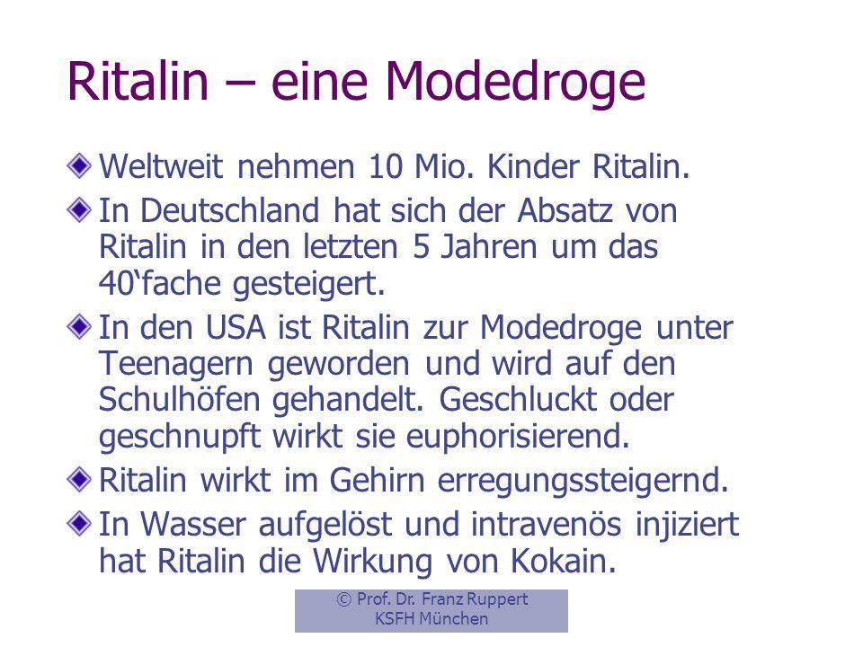 Ritalin – eine Modedroge