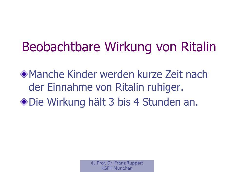 Beobachtbare Wirkung von Ritalin