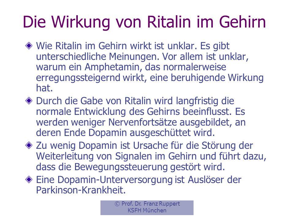 Die Wirkung von Ritalin im Gehirn